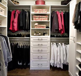 Master Bedroom Closet in White